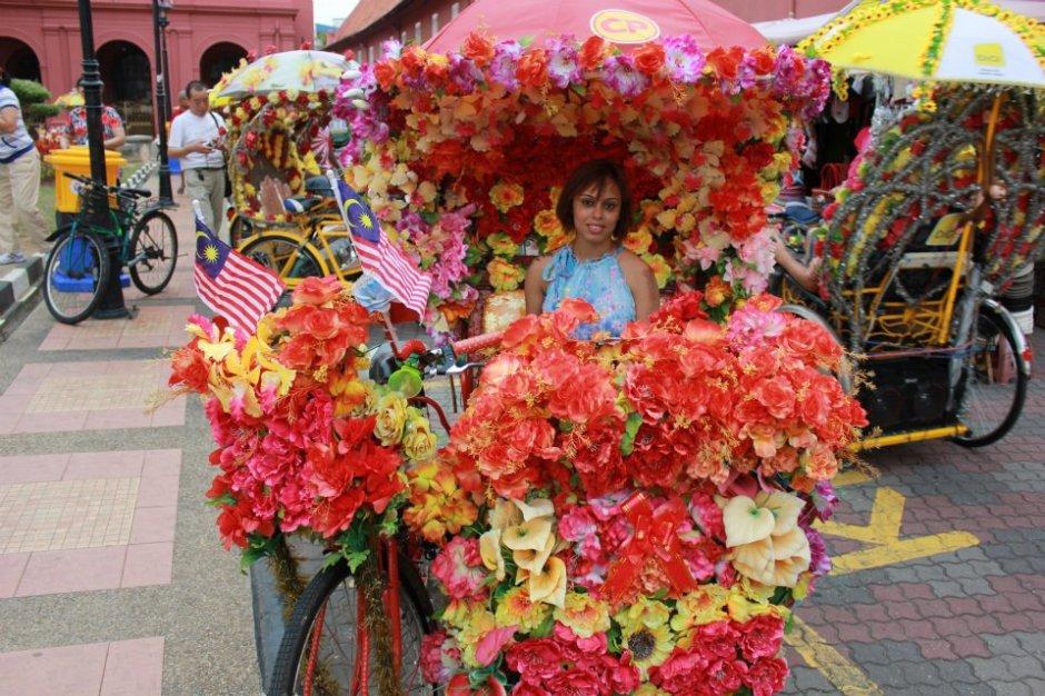 Colourful trishaws in Melaka, Malaysia