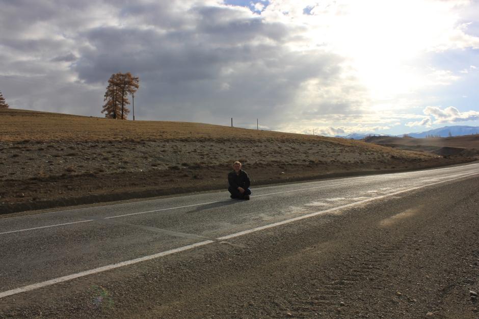 Highway in Altai Kari, Siberia