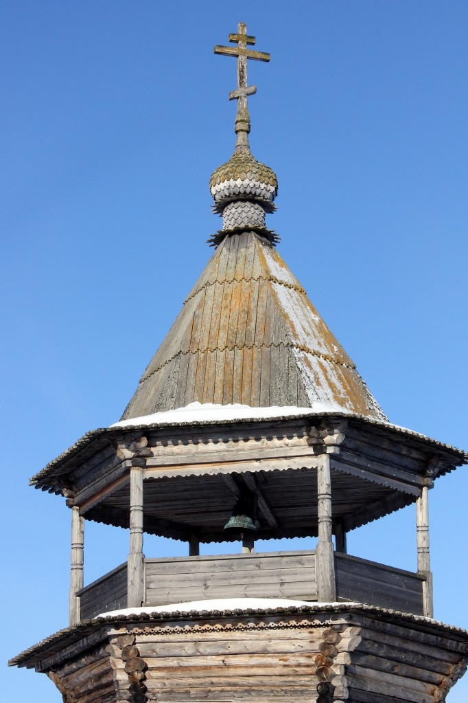 A beautiful old wooden church at Pomor village of Kovda