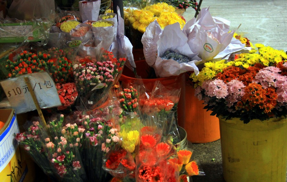 And flowers were sold in this old Victoria City market.