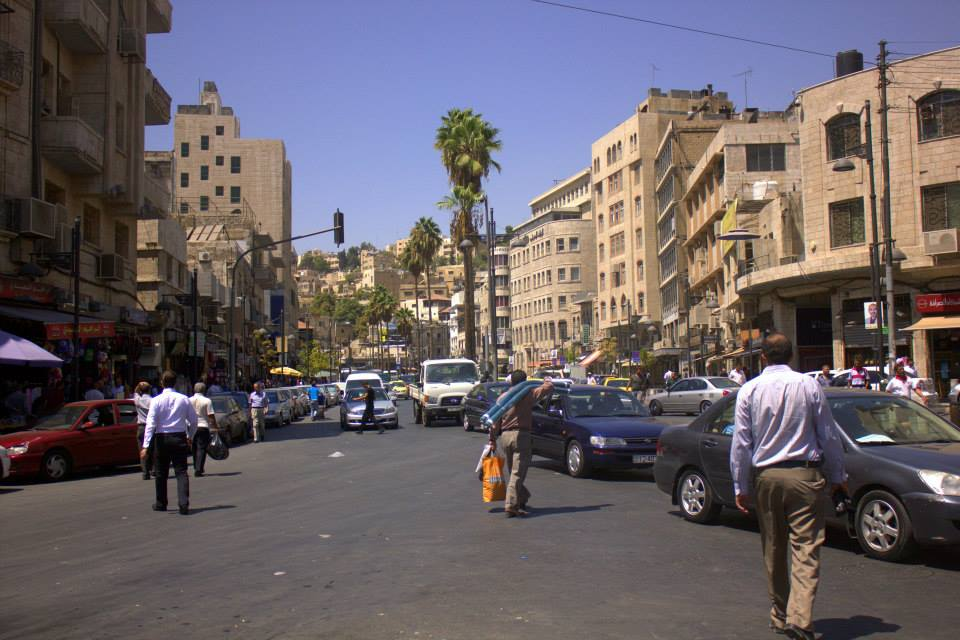 In the busy downtown Balad area