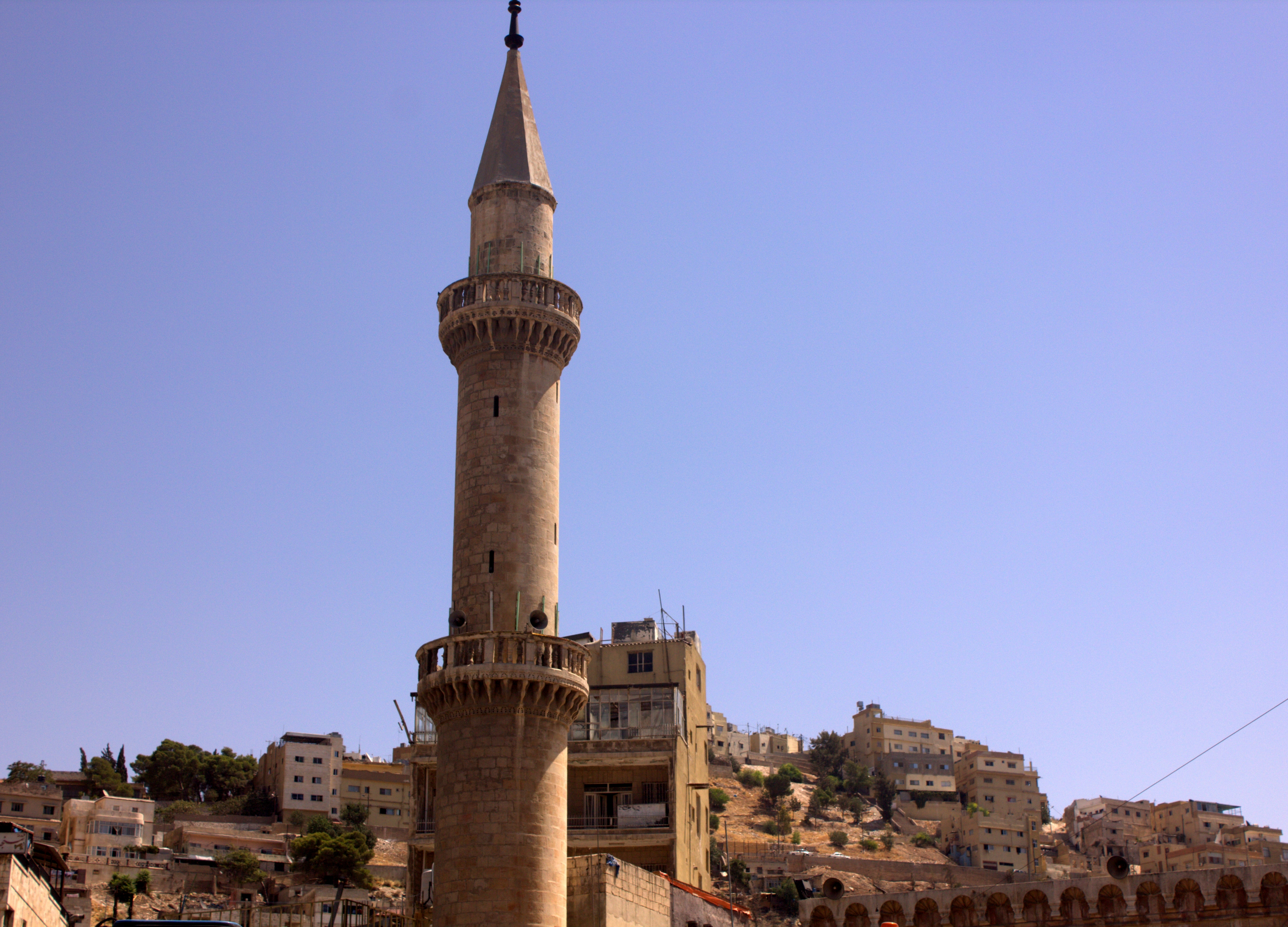 Husseini Mosque stands out