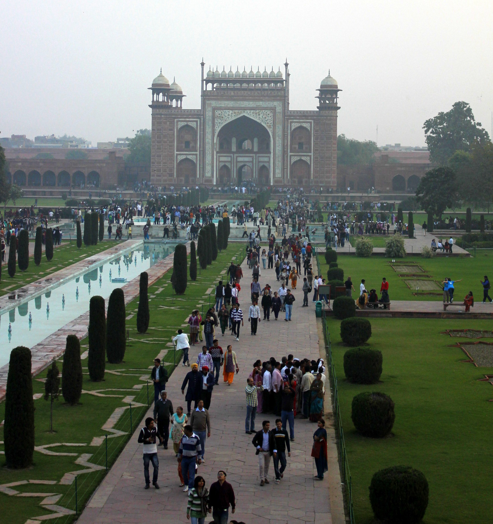 We entered the Charbagh