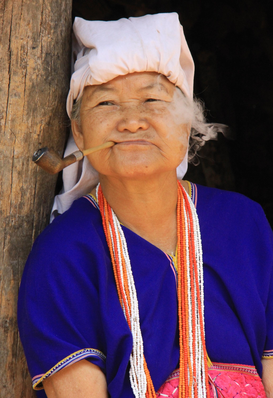 At the White Karen village