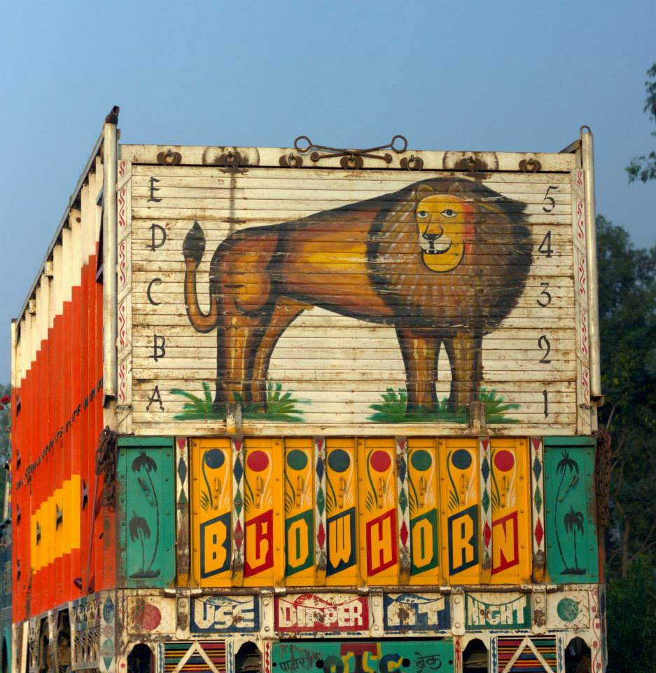Paintings on the trucks on the way to Haridwar from Delhi