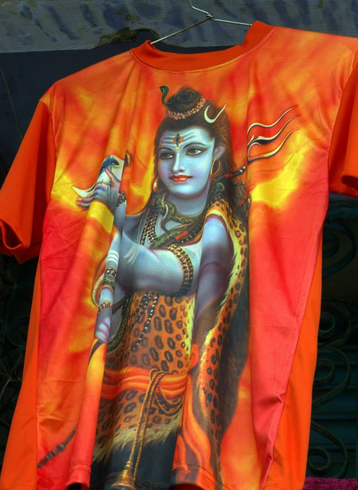 Religious t shirts for sale at Haridwar