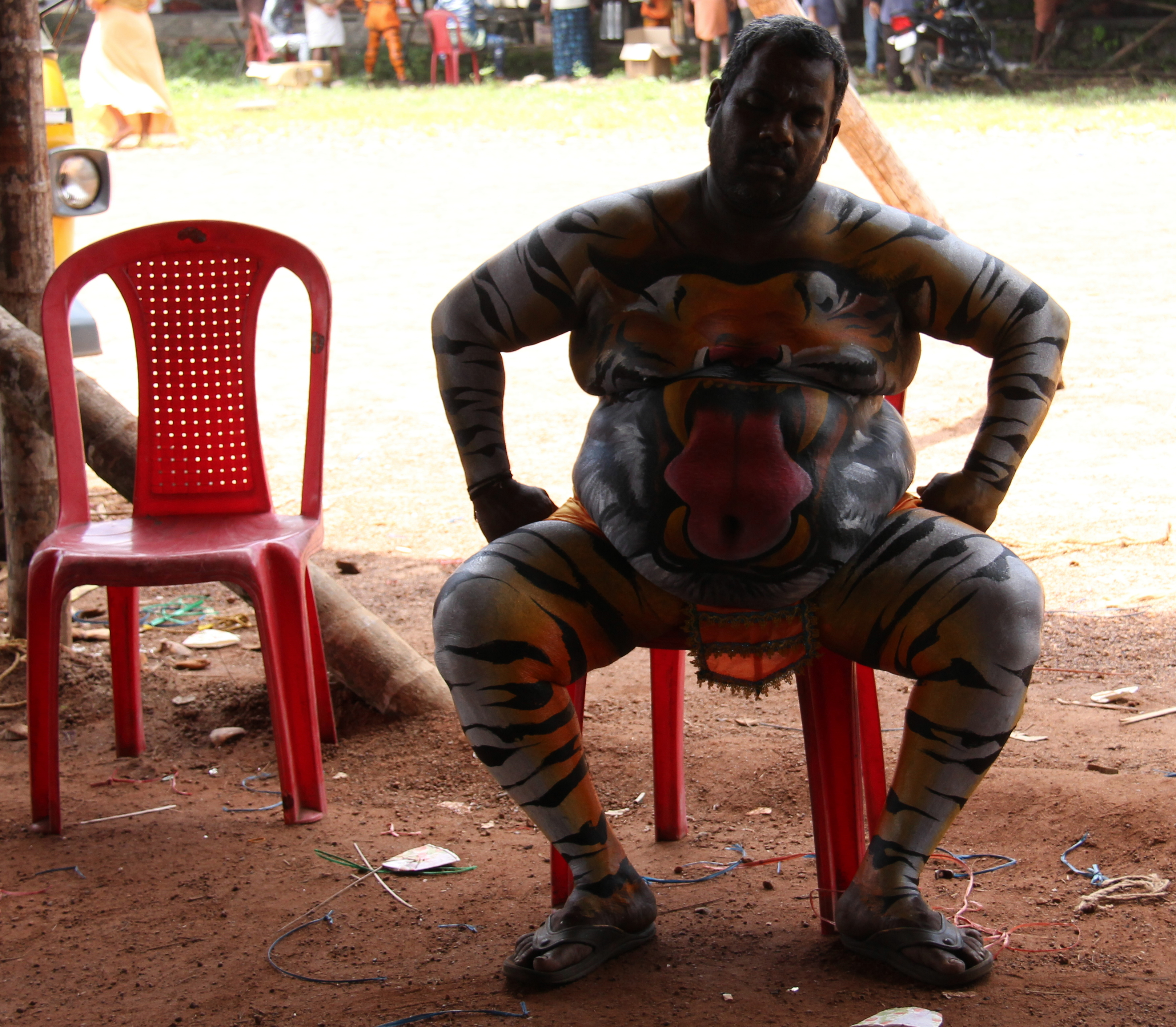 For it was hard being a Pulikali tiger