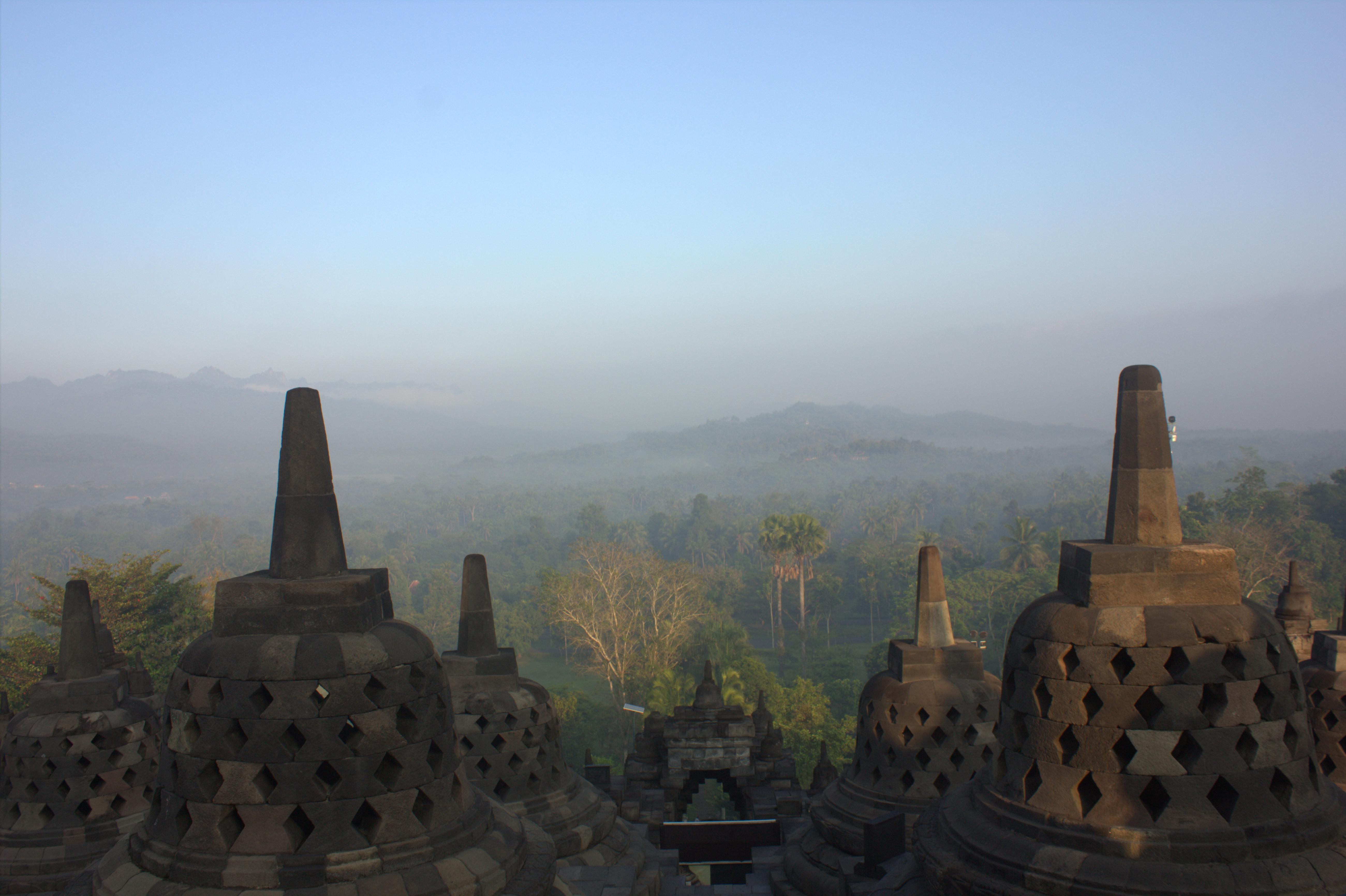 Borobudur stood proudly silent