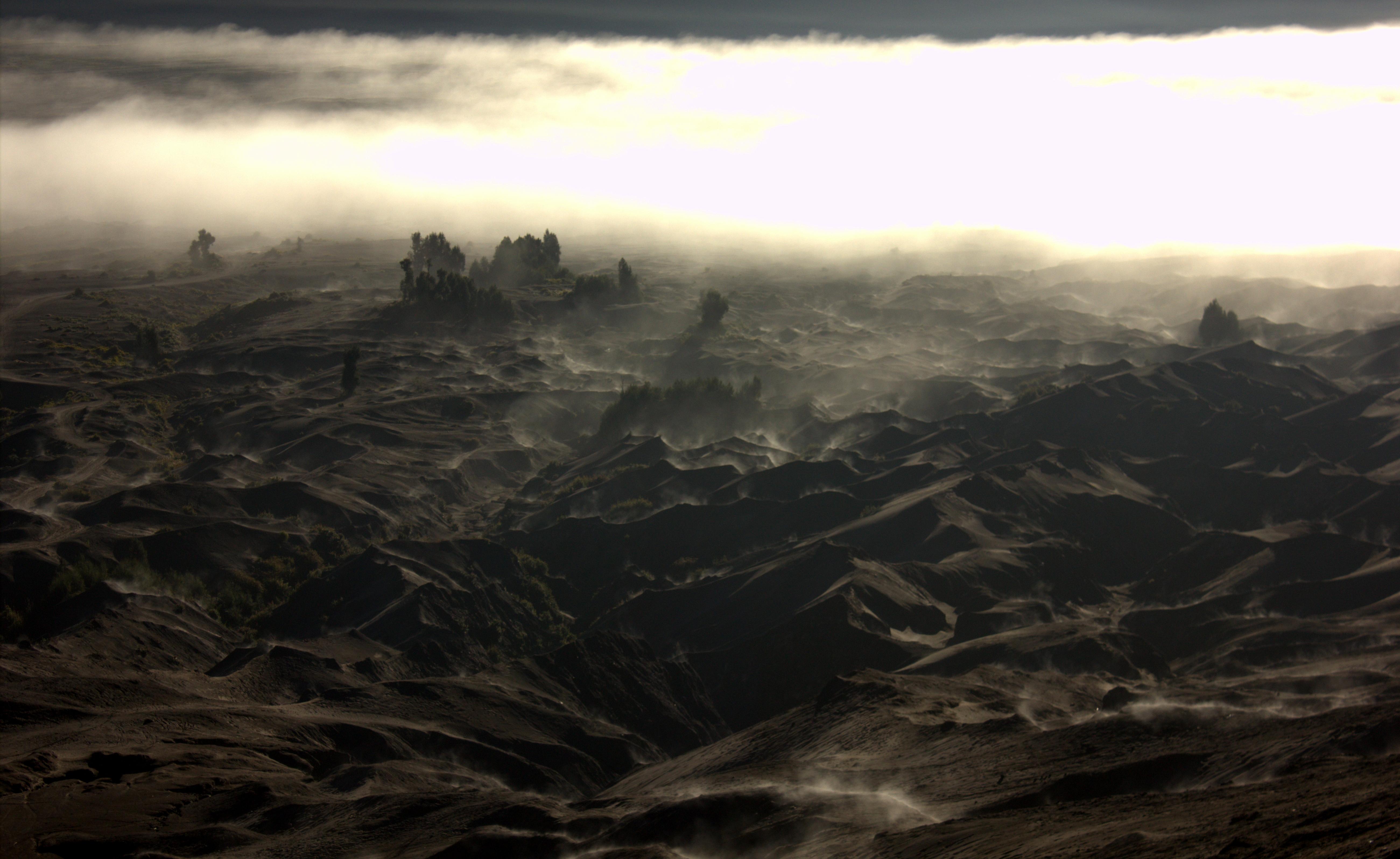 Martial landscape behind